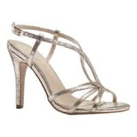 Women's Pink Paradox London Magic Strappy Dress Sandal Champagne Metallic