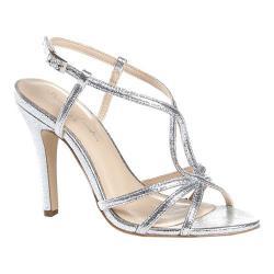 Women's Pink Paradox London Magic Strappy Dress Sandal Silver Metallic
