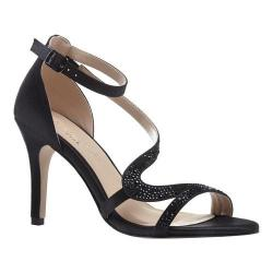 Women's Pink Paradox London Mckayla Ankle Strap Sandal Black Satin