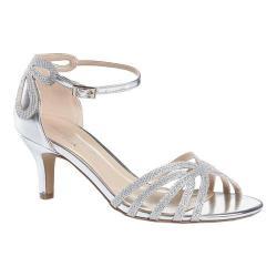 Women's Pink Paradox London Melby Ankle Strap Sandal Silver Glitter Mesh