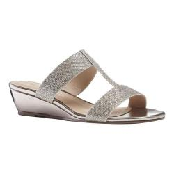 Women's Pink Paradox London Melina Dress Slide Champagne Glitter Mesh