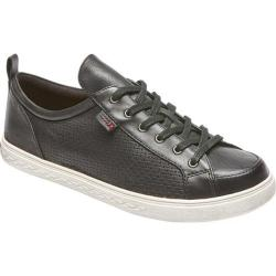 Women's Rockport Cobb Hill Willa Lace to Toe Sneaker Black Leather