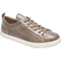 Women's Rockport Cobb Hill Willa Lace to Toe Sneaker Grey Leather