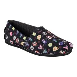 Women's Skechers BOBS Plush Posh Pup Alpargata Black