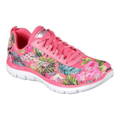 a4a7b3e9ddaa womens skechers pink multi flex appeal training sneaker women ...