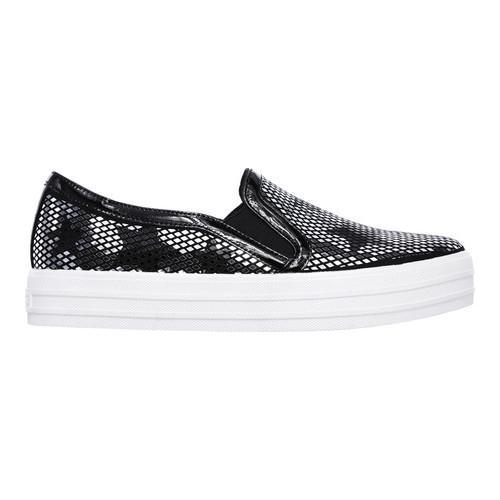 Women's Skechers Double Up Starshine Slip-On Sneaker Black/Silver - Thumbnail 1