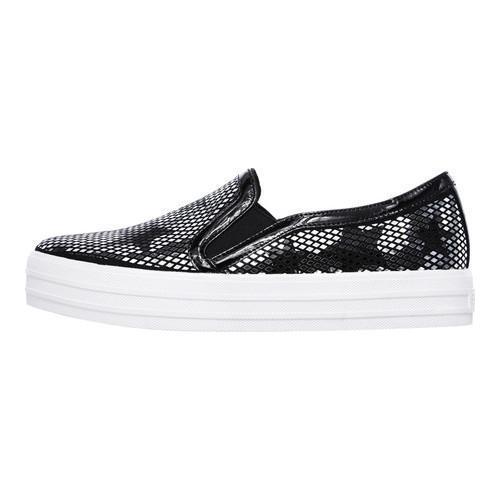 Women's Skechers Double Up Starshine Slip-On Sneaker Black/Silver - Thumbnail 2