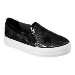 Women's Skechers Double Up Starshine Slip-On Sneaker Black/Silver - Thumbnail 0