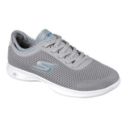 Women's Skechers GO STEP Lite Persistence Sneaker Gray/Turquoise