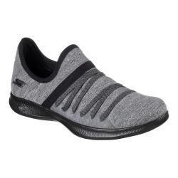 Women's Skechers GO STEP Lite Strived Slip-On Sneaker Black/Gray