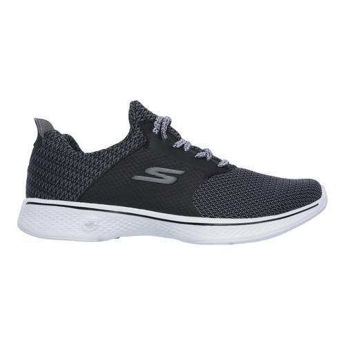 Women's Skechers GOwalk 4 Sustain Walking Shoe BlackWhite | Shopping The Best Deals on Athletic