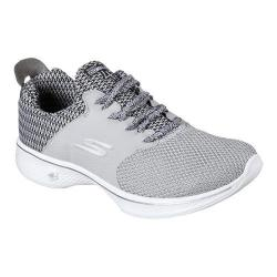 Women's Skechers GOwalk 4 Sustain Walking Shoe Light Gray/Black