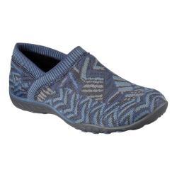 Women's Skechers Relaxed Fit Breathe Easy Lassie Slip-On Blue/Gray