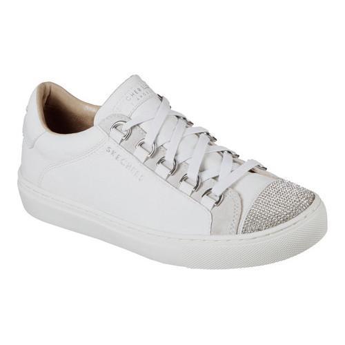 81ff815727b6 Shop Women s Skechers Side Street Bling Street Sneaker White - Free  Shipping Today - Overstock - 17122303