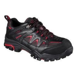 Men's Skechers Work Delleker Steel Toe Waterproof Sneaker Black/Red