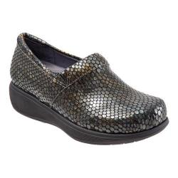 Women's SoftWalk Meredith Sport Clog Bronze/Grey Snake Leather