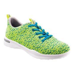 Women's SoftWalk Sampson Sneaker Lime Knit Flexible Technical Fabric