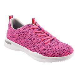 Women's SoftWalk Sampson Sneaker Pink Knit Flexible Technical Fabric