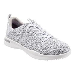 Women's SoftWalk Sampson Sneaker White Knit Flexible Technical Fabric