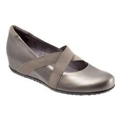 Women's SoftWalk Waverly Hidden Wedge Pewter Leather
