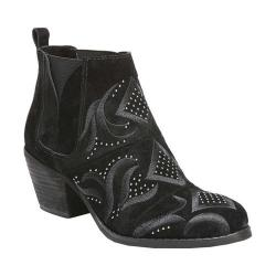 Women's Fergie Footwear Lexy Ankle Boot Black Cow Suede