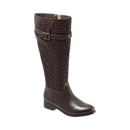 d5e9ede9456 Shop Women s Trotters Lyra Wide Calf Boot Dark Brown Embossed Snake Leather  - Free Shipping Today - Overstock - 17122430