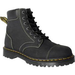 Dr. Martens Ranch 7-Eye Boot Black Kingdom Waxy Leather