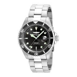 Men's Invicta Pro Diver 22047 Silver Stainless Steel/Black