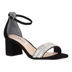 Women's Nina Elenora Block Sandal Black Glam Suede (More options available)