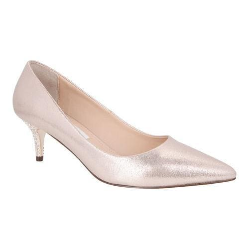 Women's Nina Tiara Pump Taupe Reflective Suedette