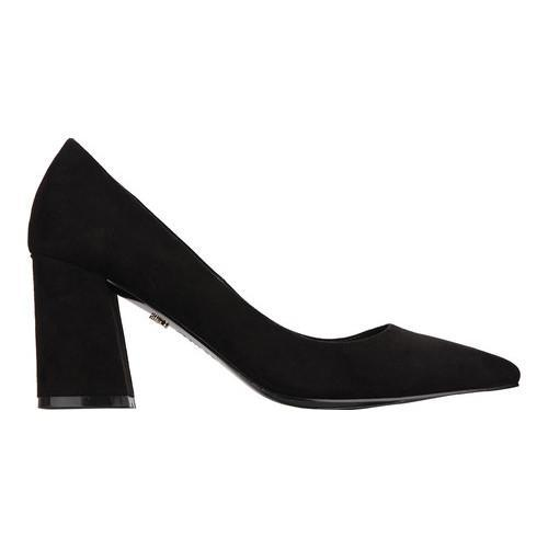 Nina Tinsley Block Heel Pump(Women's) -True Black/Glitter Glam Suede Sale Low Cost Discount Best Store To Get Deals Buy Cheap Very Cheap Free Shipping High Quality E1s4Vba
