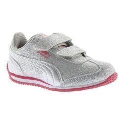 Girls' PUMA Whirlwind Glitz V PS Sneaker PUMA Silver/PUMA Silver (3 options available)