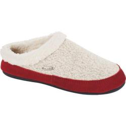 Women's Acorn Mule Ragg Slipper Charcoal Heather Ragg Wool (3 options available)