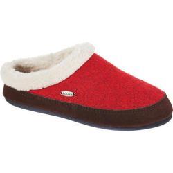 Women's Acorn Mule Ragg Slipper Red Ragg Wool
