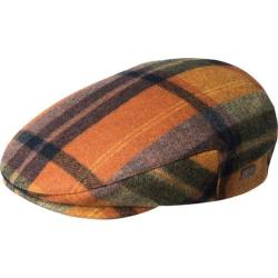 Men's Bailey of Hollywood Kottler Flat Cap 25487 Pumpkin Plaid