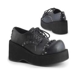 Women's Demonia Dank 110 Platform Oxford Black Vegan Leather