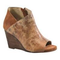 Women's Diba True In Sider Wedge Bootie Tan/Chestnut Leather/Suede