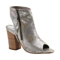 Women's Diba True Ink Away Open Toe Bootie Silver Leather