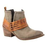 Women's Diba True Sly Fox Bootie Dust/Cognac Suede/Leather