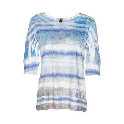 Women's Ojai Clothing Burnout Relaxed Fit Vee Cobalt Grunge Stripe|https://ak1.ostkcdn.com/images/products/193/549/P23407887.jpg?impolicy=medium