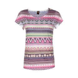 Women's Ojai Clothing Burnout Scoop Neck Short Sleeve Top Ethnic Lemongrass