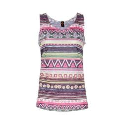 Women's Ojai Clothing Burnout Summertime Tank Top Ethnic Lemongrass