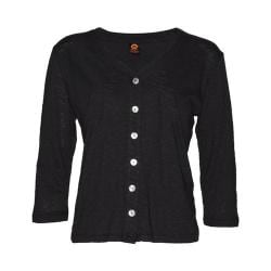 Women's Ojai Clothing Chopped Button Down Cardigan Black