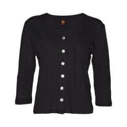 Women's Ojai Clothing Chopped Button Down Cardigan Black|https://ak1.ostkcdn.com/images/products/193/549/P23407909.jpg?impolicy=medium