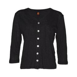 Women's Ojai Clothing Chopped Button Down Cardigan Black (4 options available)