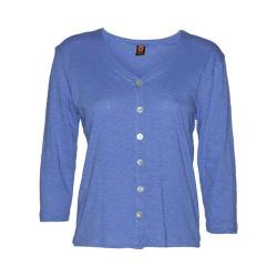 Women's Ojai Clothing Chopped Button Down Cardigan Cobalt Blue (5 options available)