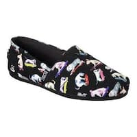 Women's Skechers BOBS Plush Wag Town Alpargata Black/Multi