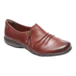 Women's Rockport Cobb Hill Penfield Zip Shoe Brick Leather