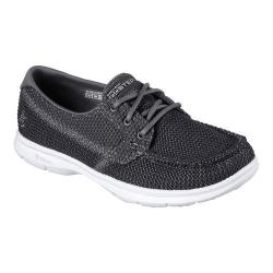 Women's Skechers GO STEP Deck Boat Shoe Charcoal