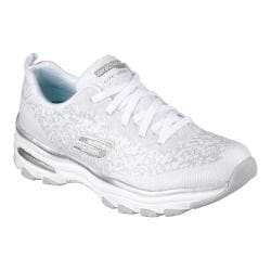 Women's Skechers D'Lites Air Sneaker White/Silver